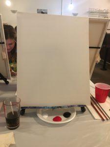 paint nite blank canvas